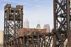 мост cleveland городской стоковая фотография