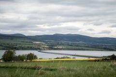 Мост Cromarty около Инвернесса Шотландии Dingwall Стоковое Изображение