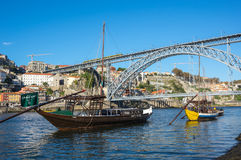 Мост Dom Луис i стоковая фотография rf