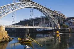 Мост Dom LuÃs i в Порту Стоковая Фотография