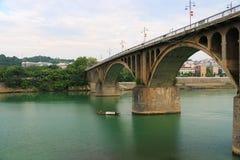 Мост Dongfeng в yongzhou, Хунани, Китае стоковое изображение rf