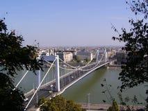 Мост Elisabeth (венгр: Híd Erzsébet) Стоковые Изображения
