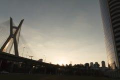 Мост Estaiada, Сан-Паулу, SP, Бразилия стоковое изображение