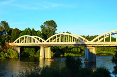 Мост Fairfield, Гамильтон, Waikato, Новая Зеландия Стоковое фото RF