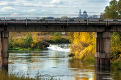Мост Fall River Стоковое Изображение RF