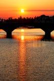 мост florence arno над рекой Стоковое Изображение RF