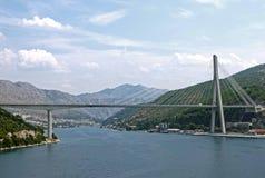 Мост Franjo Tudman, ХОРВАТИЯ Стоковые Фотографии RF
