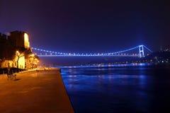 Мост FSM и Rumeli Hisari Стамбул Стоковая Фотография