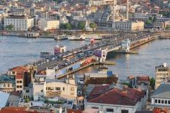 Мост Galata, Стамбул стоковые изображения rf
