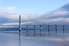 Мост Gama Vasco da, Лиссабон, Португалия стоковое изображение