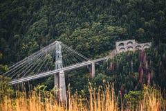 Мост Gisclard железнодорожный в Пиренеи Стоковое Изображение