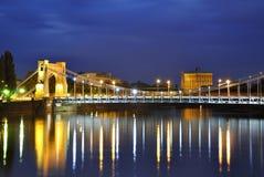 Мост Grunwald в Wroclaw. Бреслау в Польше Стоковые Фото