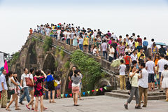 Мост Guangji грандиозного канала Ханчжоу стоковая фотография rf