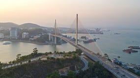 Мост Ha длинный Заход солнца Стоковые Фотографии RF