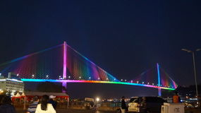 Мост Ha длинный ноча Стоковые Фотографии RF
