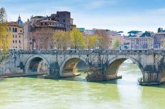 Мост Hadrian, Рима Стоковые Фотографии RF