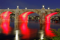 Мост Harrisburg Пенсильвания улицы рынка Стоковая Фотография RF