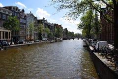 Мост heisteeg Wijde, канал Herengracht, Амстердам, Голландия, Нидерланд стоковое фото rf
