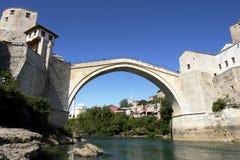 мост herzegovina mostar Боснии Стоковое Изображение RF