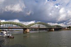мост hohenzollern Стоковое Изображение