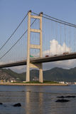 Мост Hong Kong Tsing Ma Стоковое фото RF