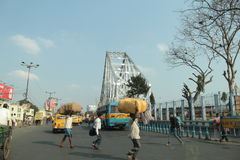 Мост Howrah в Kolkata Стоковые Изображения RF