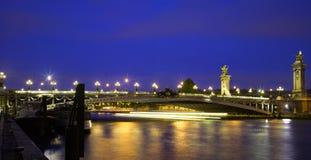 мост III paris alexandre Стоковая Фотография