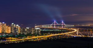 Мост Inchon, Южная Корея Стоковая Фотография RF