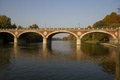Мост Isabella в Турине Италии Стоковые Изображения
