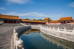 Мост Jinshui музея национального дворца Пекина стоковое фото