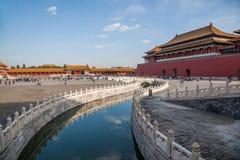 Мост Jinshui музея национального дворца Пекина стоковые изображения rf