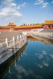 Мост Jinshui музея национального дворца Пекина Стоковое Изображение RF