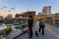 Мост Katsuyama в Kitakyushu Стоковые Фото