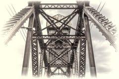 Мост Katy года сбора винограда железнодорожный на Boonville Стоковые Фотографии RF