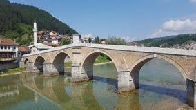 Мост Konjic старый Стоковые Изображения