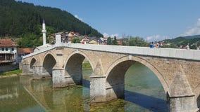 Мост Konjic старый Стоковая Фотография