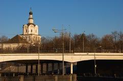 Мост Kostomarovsky в Москве Стоковая Фотография