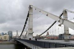 Мост Krimsky в Москве стоковые изображения rf