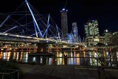 Мост Kurilpa пешеходный, Брисбен Стоковое Изображение