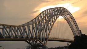 Мост Kutai Kartanegara, Tenggarong, Индонезия стоковое фото rf
