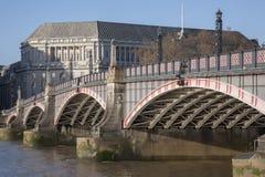 Мост Lambeth и река Темза, Вестминстер, Лондон Стоковое Изображение RF