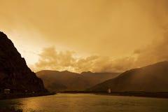 мост lhasa Стоковое Изображение RF