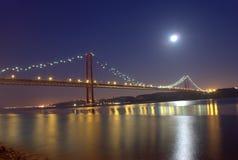 Мост lisbon 25-ое апреля Стоковые Фото