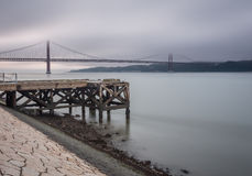мост lisbon Стоковые Фотографии RF