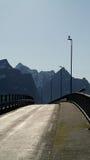 мост lofoten стоковое изображение