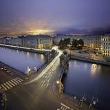 Мост Lomonosov в Санкт-Петербурге Стоковое фото RF