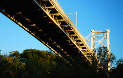 Мост Loughran, Кингстон, NY Стоковая Фотография