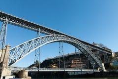 Мост LuÃs i, Порту, Португалия Стоковое Изображение RF