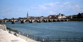 мост lyon старый Стоковая Фотография