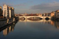 мост lyon bonaparte Стоковые Фотографии RF